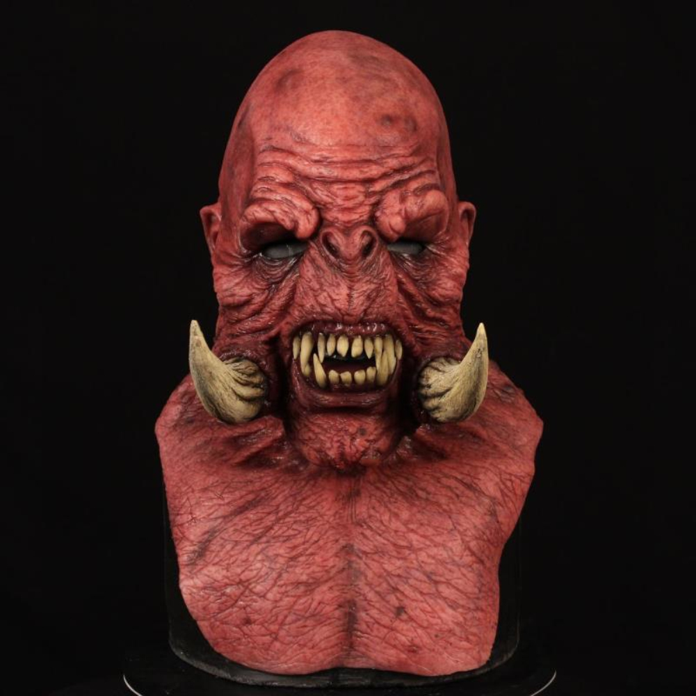 Halloween Mask Freak Horror Cosplay Performance Adult Headgear red