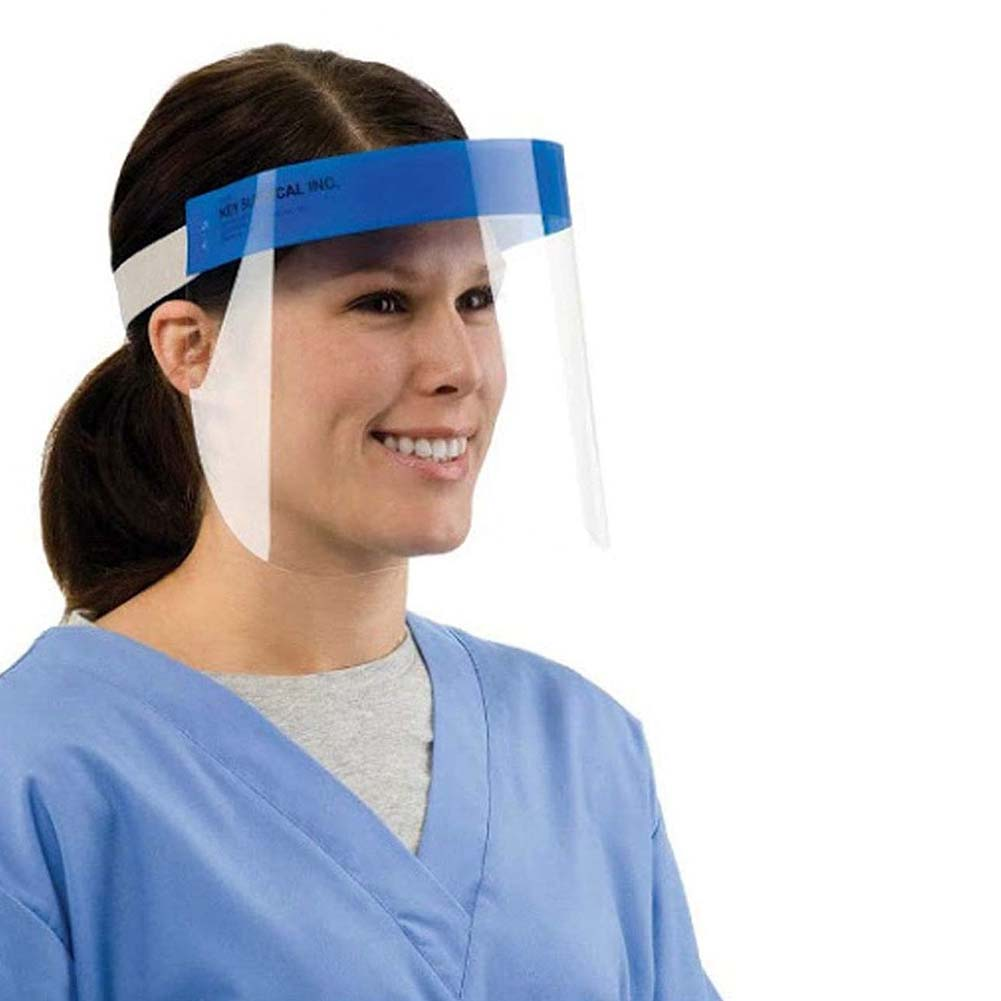 5/10PCS Face Shield Protect Eyes Face with Protective Clear Film Elastic Band 5PC