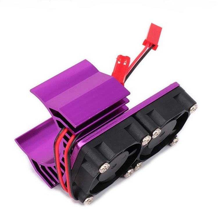 30mm Double Motor Cooling Fan Heat Sink 21000RPM for 1/10 HSP RC Car Modified 540 550 3650 3660 3670 3674 Series purple