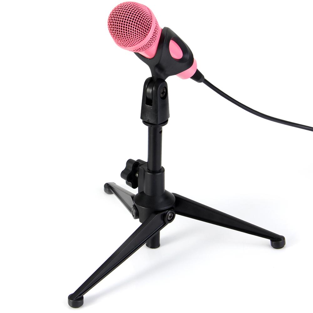 Professional Adjustable Desktop Handheld Table Tripod Microphone Mic Stand Holder with Clip Mount Shock  black
