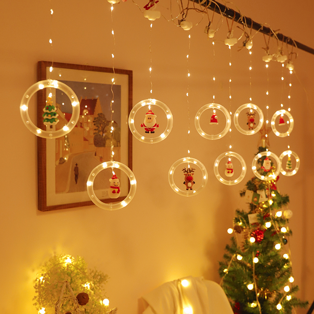 Christmas Led Curtain  Lights For Indoor Windows Doors Bedroom Decoration