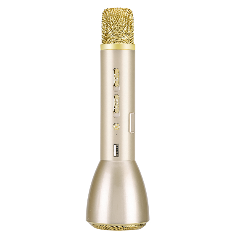 Bluetooth Karaoke Microphone (Gold)