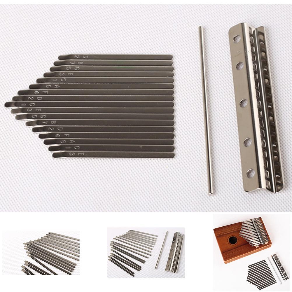 17 Keys Kalimba Keyboard Manganese Steel Kalimba Key Chrome Music Instrument 17 keys engraved with notes on the front