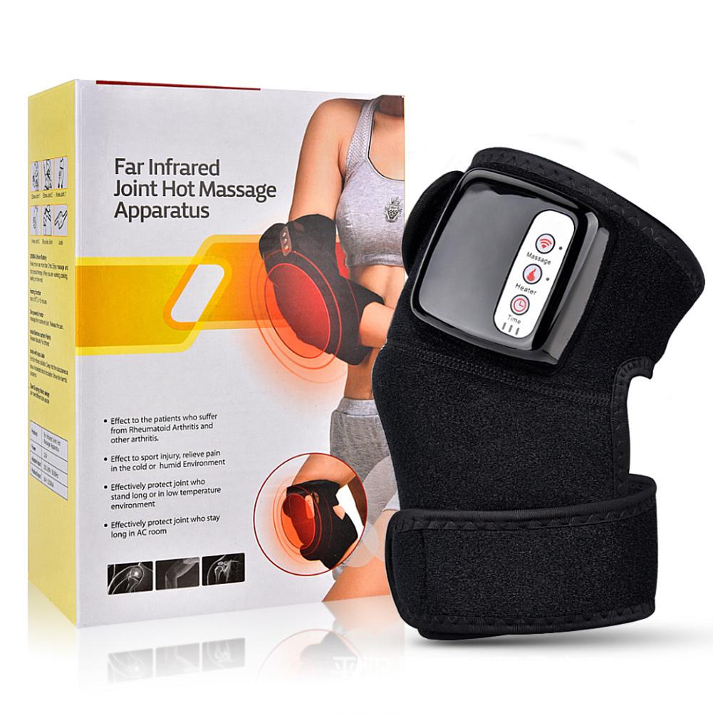Knee  Physiotherapy  Massage Hot Compress Vibration Heating Knee Massage Therapeutic Instrument black_British regulations