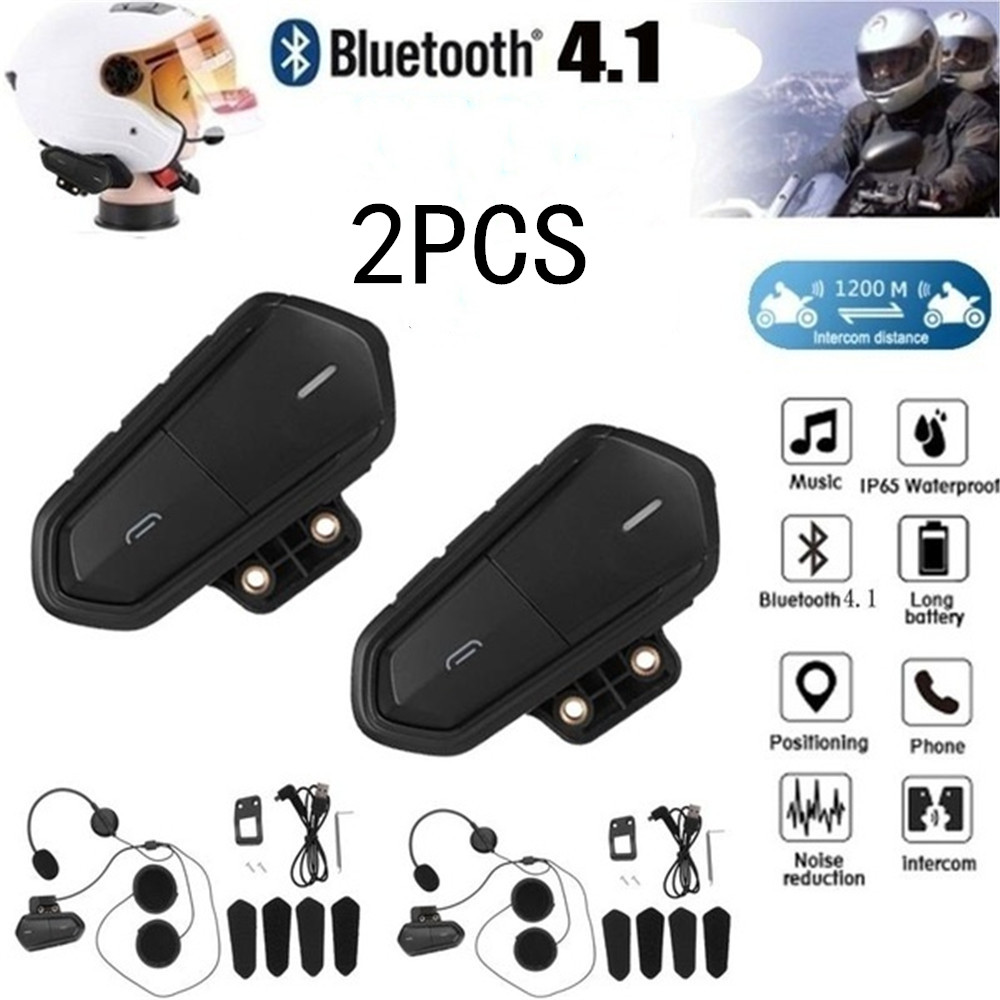 Motorcycle Bluetooth Helmet Headset Fm Radio High Fidelity Low Energy Headset Bluetooth Headset 2PCS
