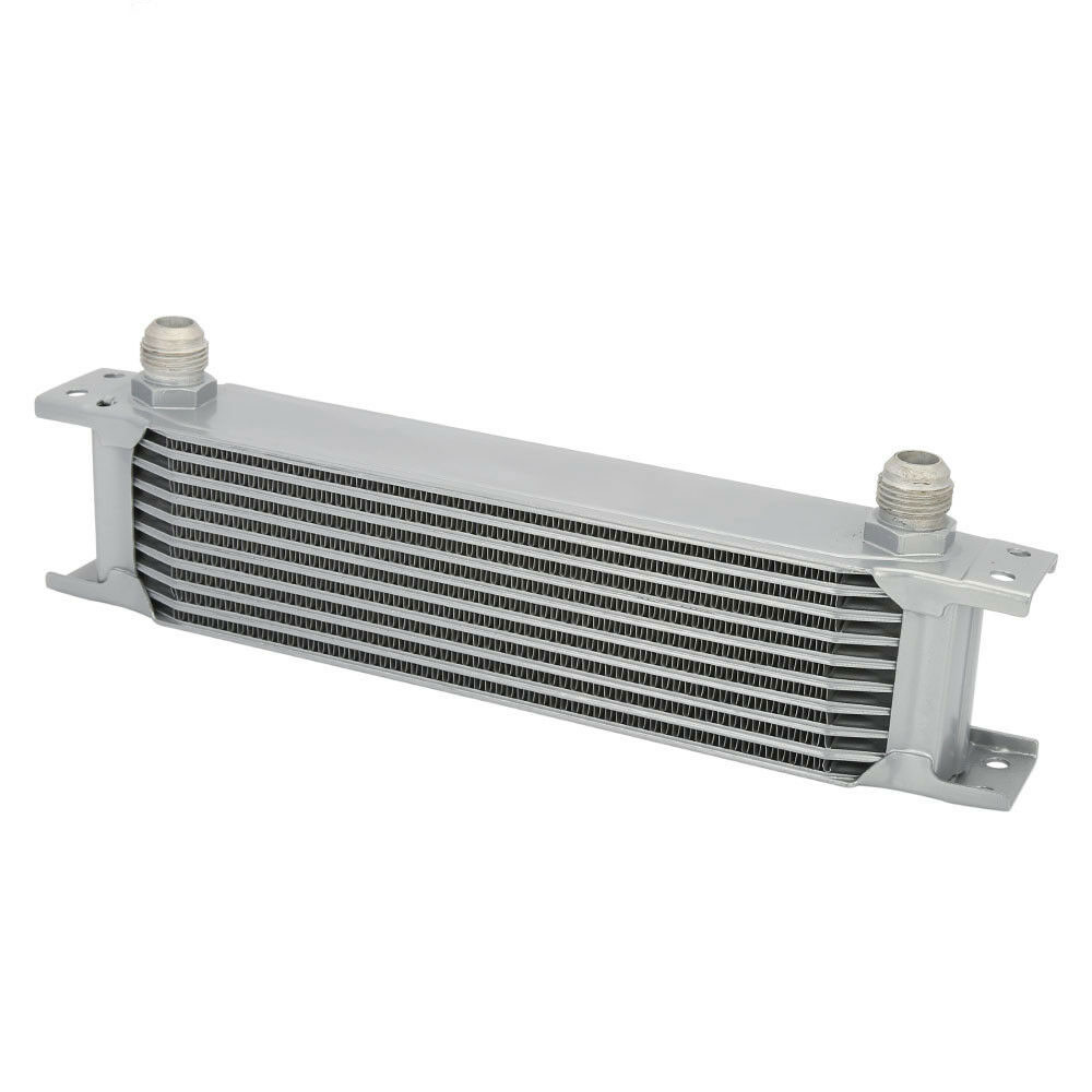 Universal 248mm 13-row 10AN Coolant Transmission Engine Oil Cooler Extra Radiator Kit