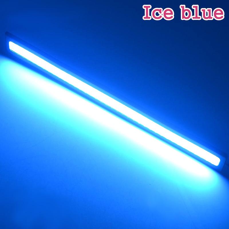 Waterproof LED Ultra Bright Daytime Running light DC 12V 17cm Car Driving lamp 17CM black shell ice blue light