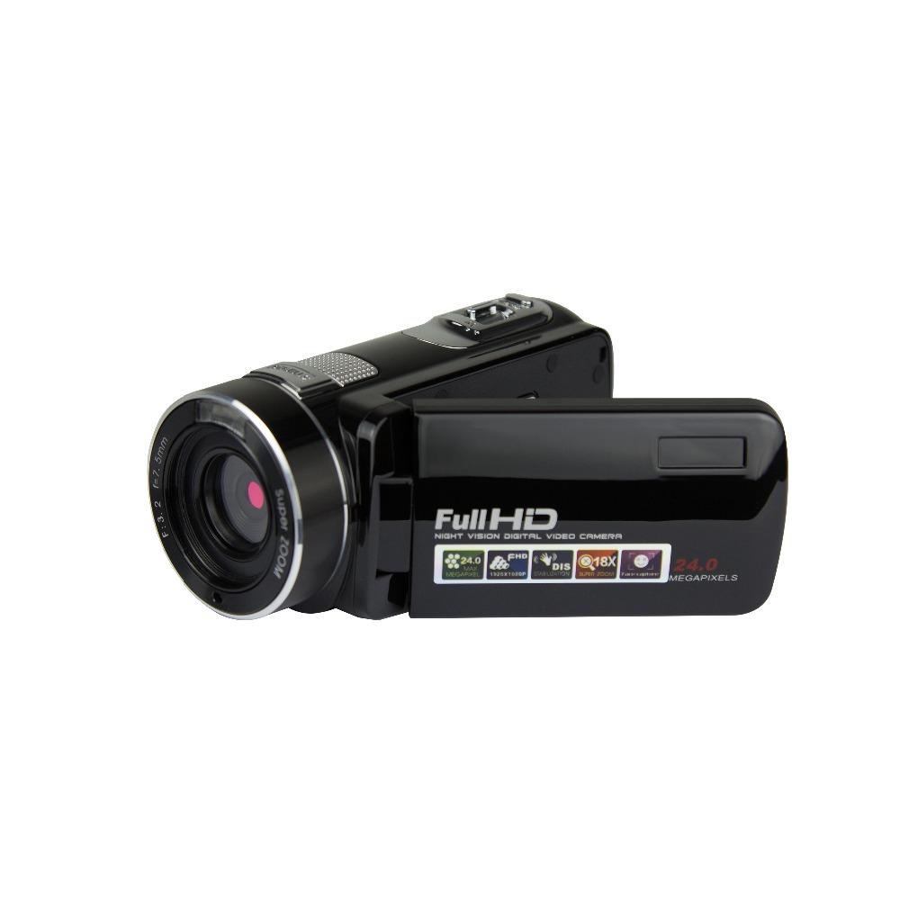24.0MP HD Video Camera Camcorder 2.7 Inch LCD Screen Digital Camera Black UK plug