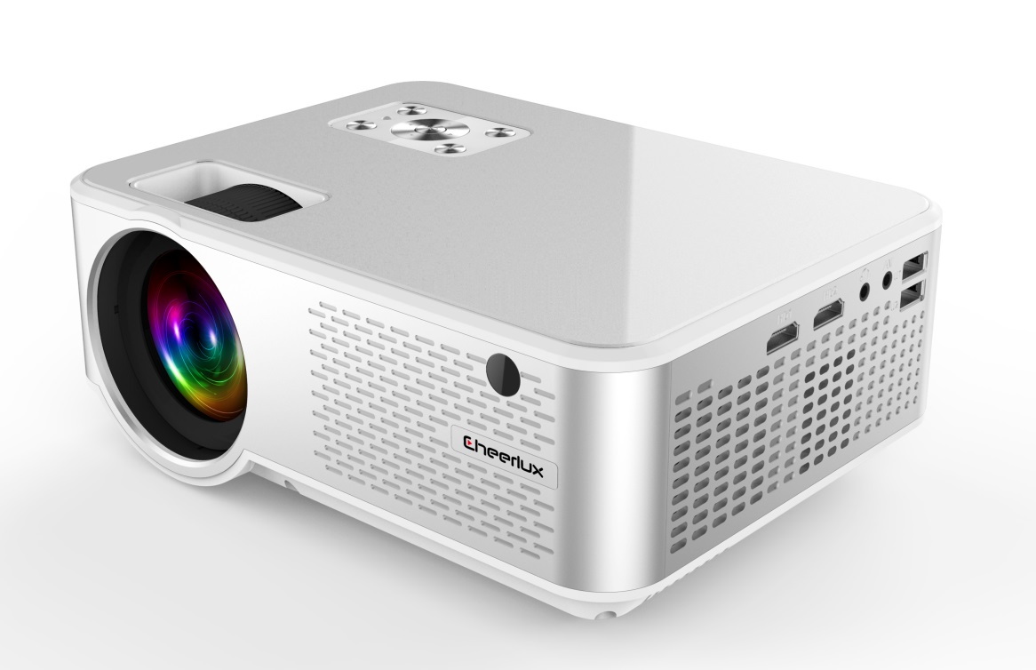 FULL HD 720P Portable LED Mini Projector LCD Video Home Theater Projector Silver white AU plug