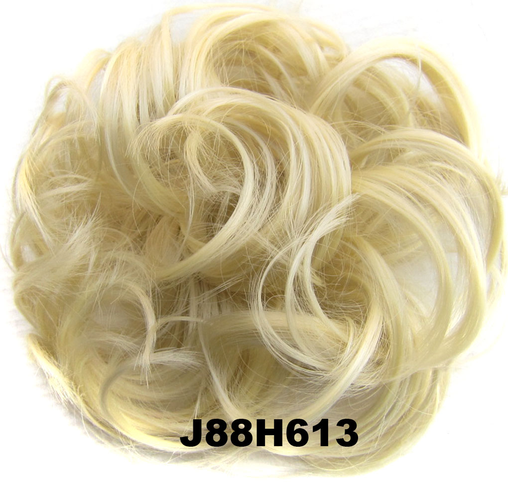 Fashion Synthetic Women Hair Pony Tail Hair Extension Bun Hairpiece Scrunchie Elastic Wedding Wave Curly  J88H613