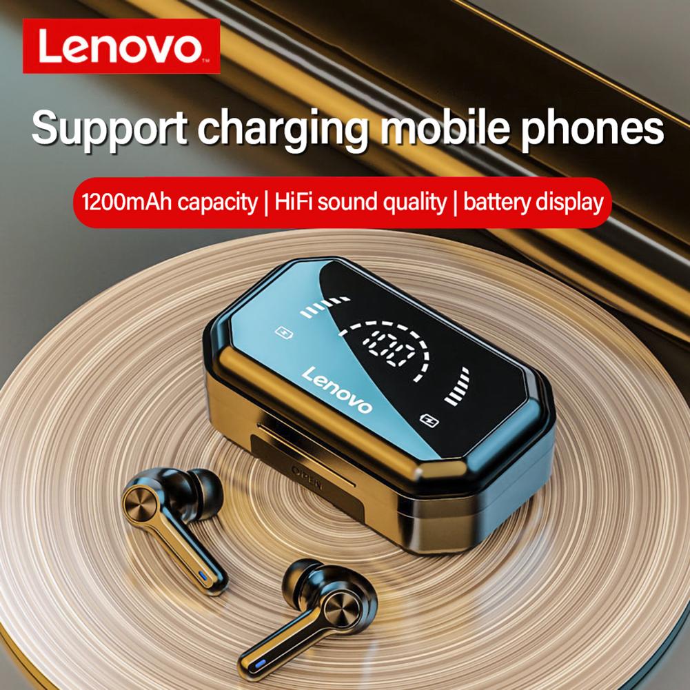 Original LENOVO Lp3 Pro Bluetooth Headphones Touch Control Tws Wireless Earphone Hifi Sounds Led Display Headset With Mic Black