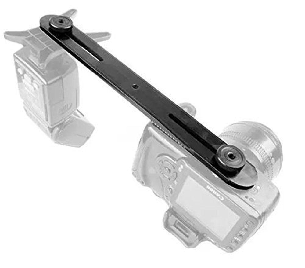 Horizontal Bracket Camera Flash Grip Rail for DSLR DC SLR Light Stand Hot-Shoe  One-word double-headed long crossbar
