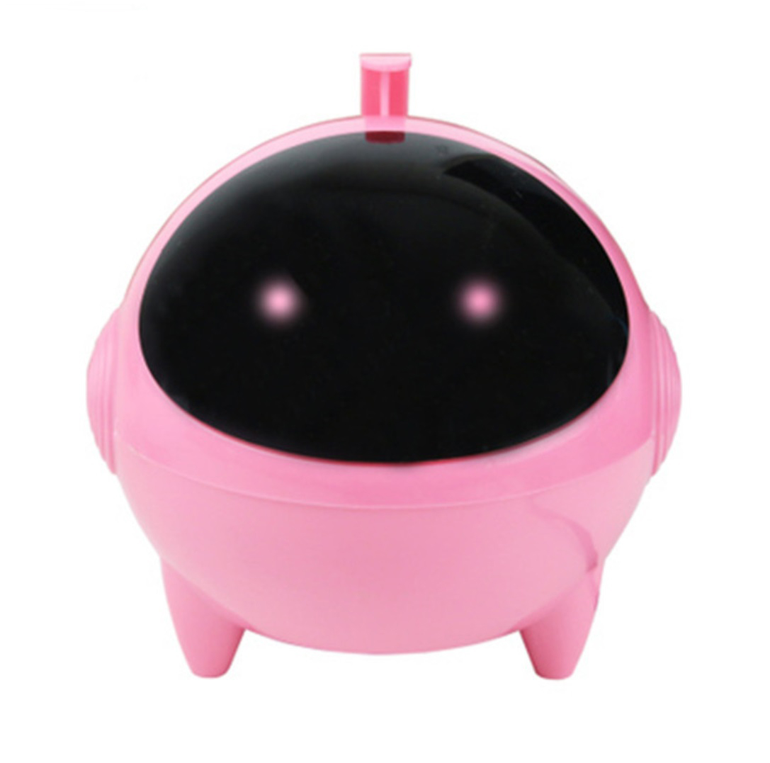Cartoon USB Speaker Portable 3.5mm Audio Interface 13.2 * 13.2 * 13.5cm for MP3 MP4 Pink_Dual speakers
