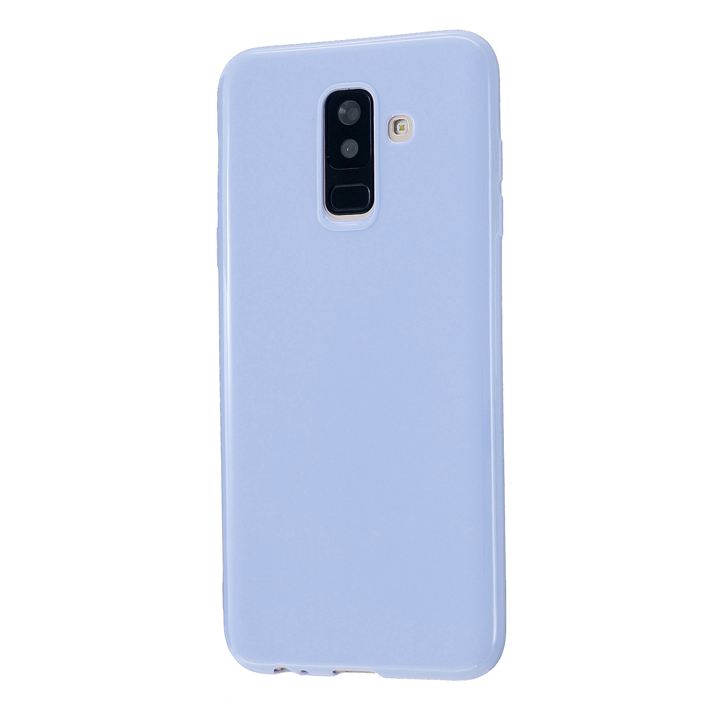 For Samsung A6/A6 Plus 2018 Smartphone Case Soft TPU Precise Cutouts Full Body Protection Mobile Phone Shell Taro purple