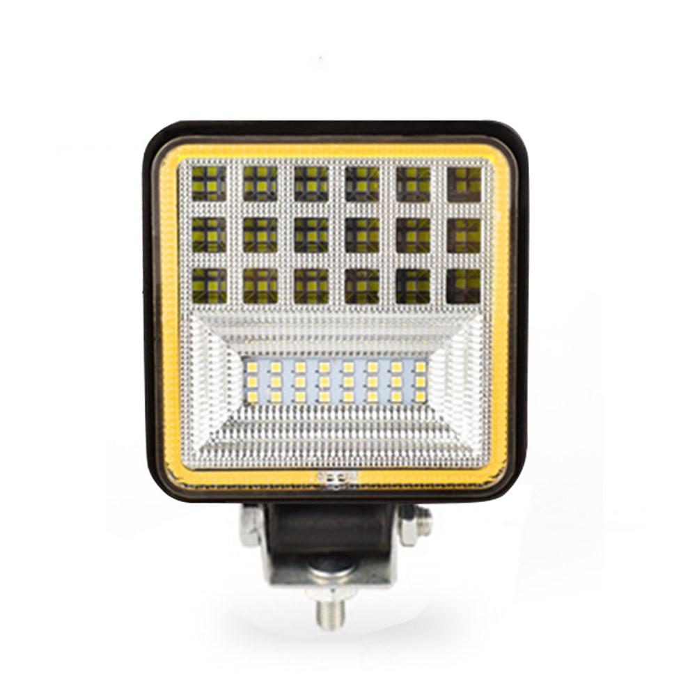 126w Car Led Working  Light Square Shape Lights Flashing Off-road Warning Light White light