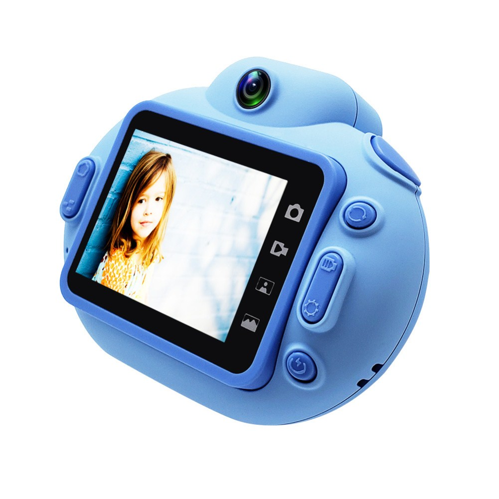 Cartoon Portable HD Mini Digital Camera for Children blue
