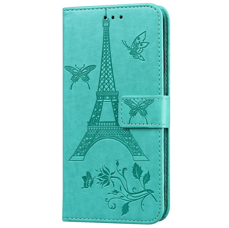 For iPhone12 iPhone12Pro 6.1 Inches Leather Case Flip Cover Card Slots Stand Bag green