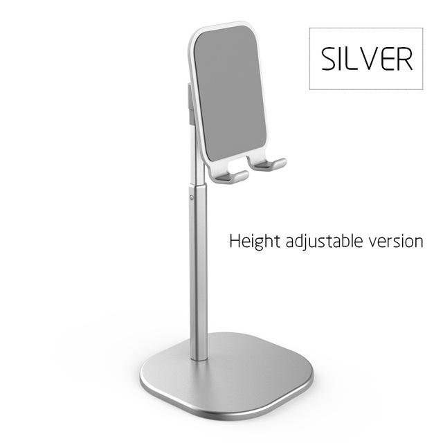 Adjustable Desktop Stand Desk Holder Mount Cradle for Cell Phone Tablet Switch Silver