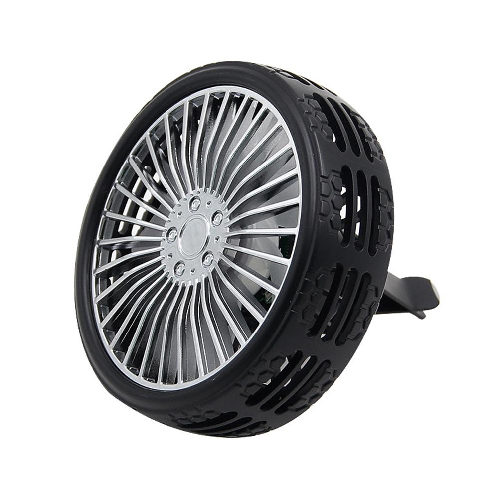 Air Vent Fan USB Fan Outlet Light LED Light Mini Electric Car Fan black