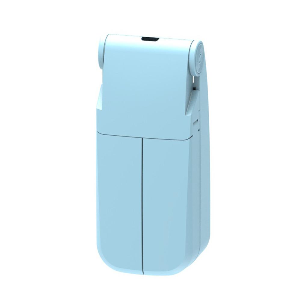 Portable Handheld USB Mini Fan v36 Double Head Folding Desktop Electric Fan  blue_44 * 36 * 103mm