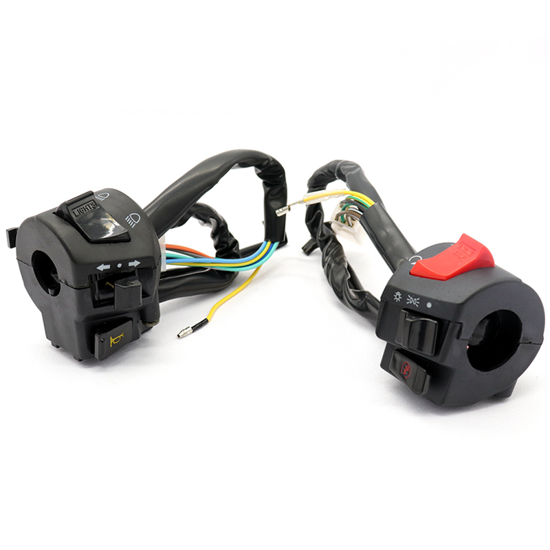 Universal Motor Switches Power Lighting Multi-function Motorbike Control Switch with Fan black and red_S3637