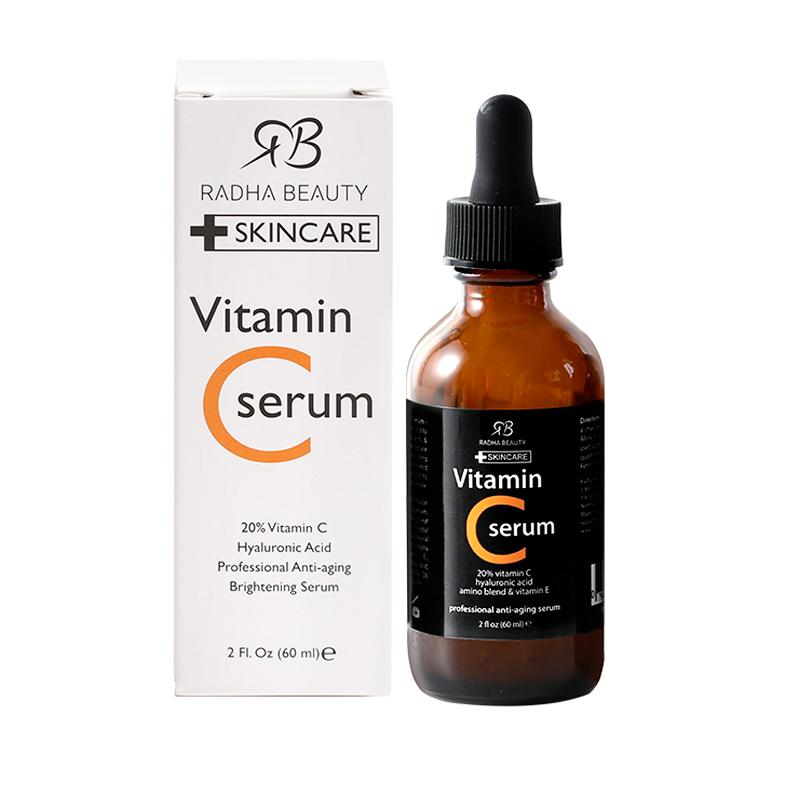 Vc  Essence Small Orange Bottle Fades Acne Brightens Skin Tone Improves Dullness Vitamin C 60ml