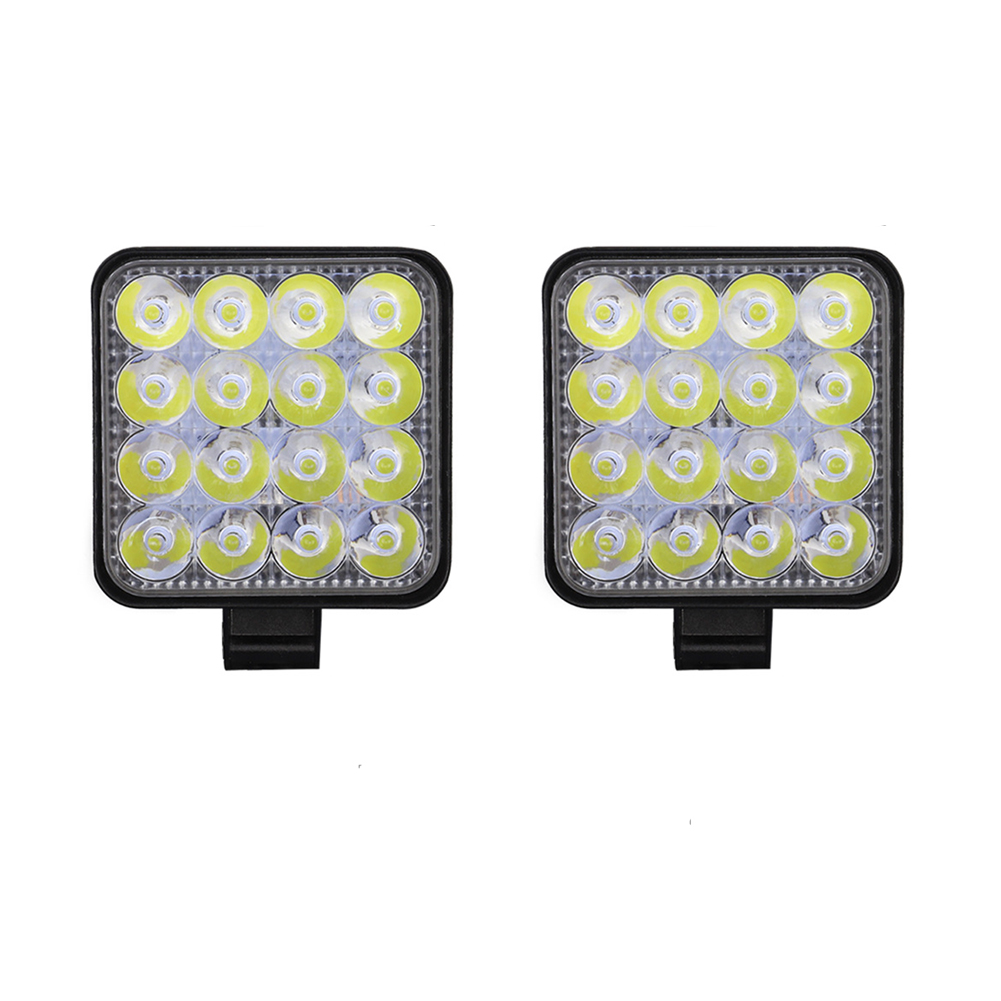 4pcs Led Work Light Bar Flood Spot Lights Driving Lamp Offroad Car Truck Suv 48w White light 2 pcs