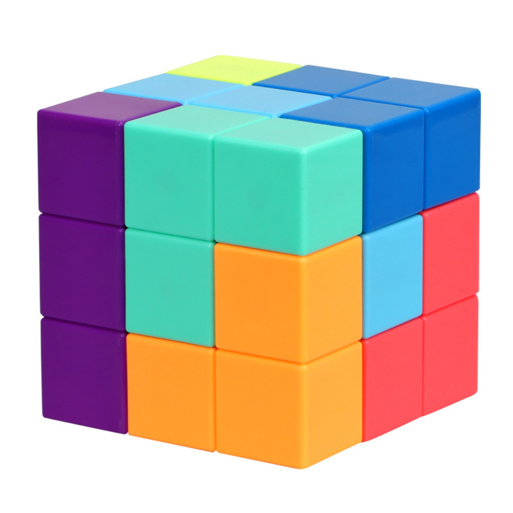 YJ Magnetic Speed Cube Magic Cube Puzzles Learning Educational Toy for Kids colors