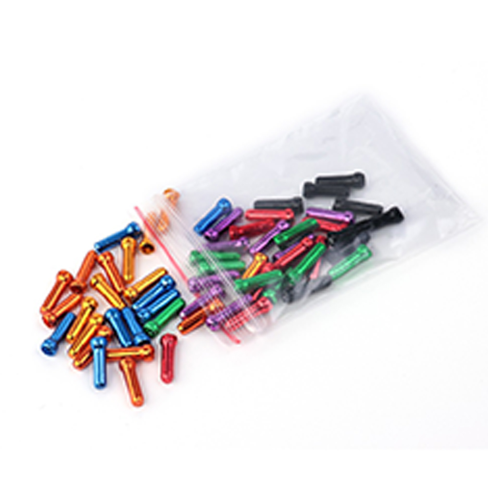 50 Pcs/set Bicycle Cable End Caps Alloy Brake Shifter Inner Cable Tips Crimps Bicycles Derailleur Shift Wire Ferrules Color mixing
