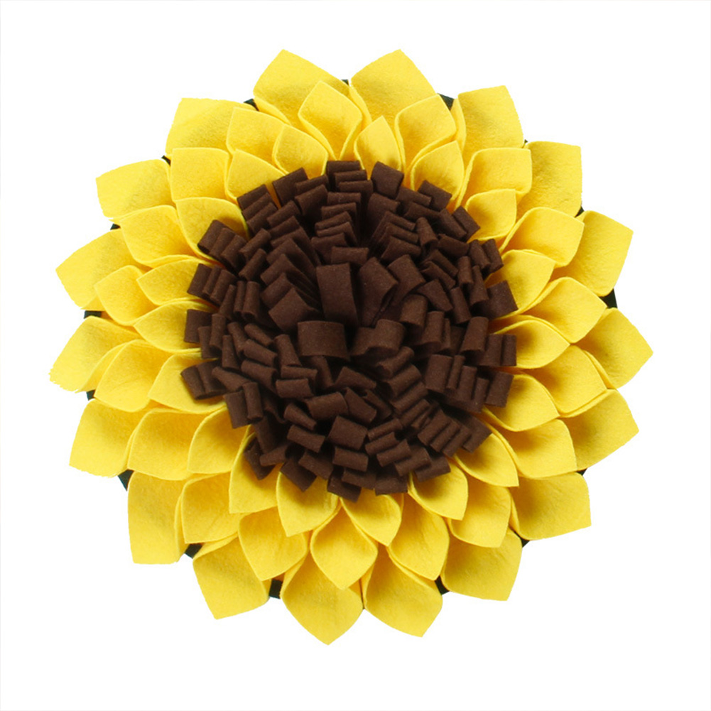 Snuffle  Mat Pet Dog Slow Feeding Training Foraging Pad Cat Interactive Game Puzzle Toys For Releasing Pressure sunflower_One size