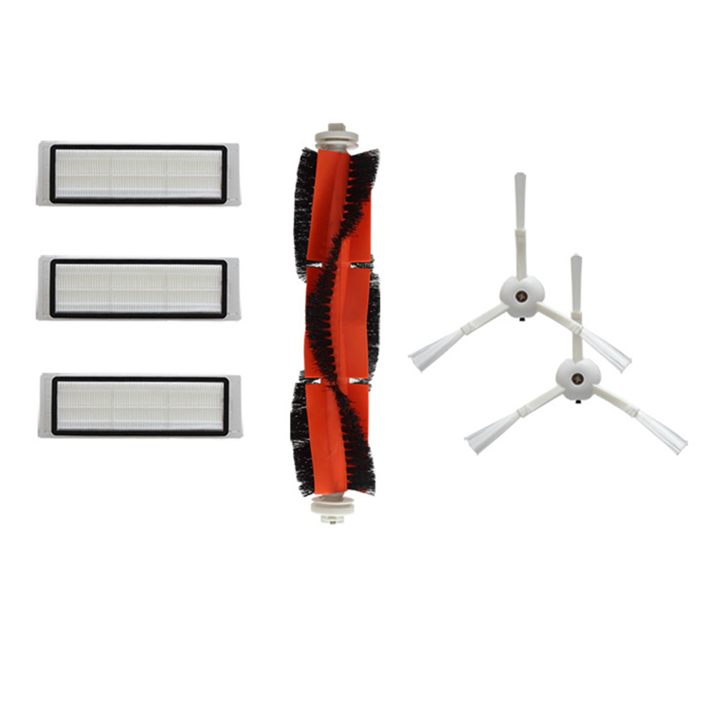 For Xiaomi Mi Robot Vacuum Cleaner Parts Set 3 Filters + 2 Side Brushes + 1 Main Brush set