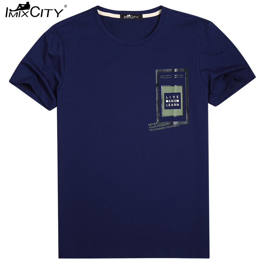 IMIXCITY Men's Short Sleeve Crewneck Casual T-Shirt Letter Summer Tops Plus Size XL-6XL