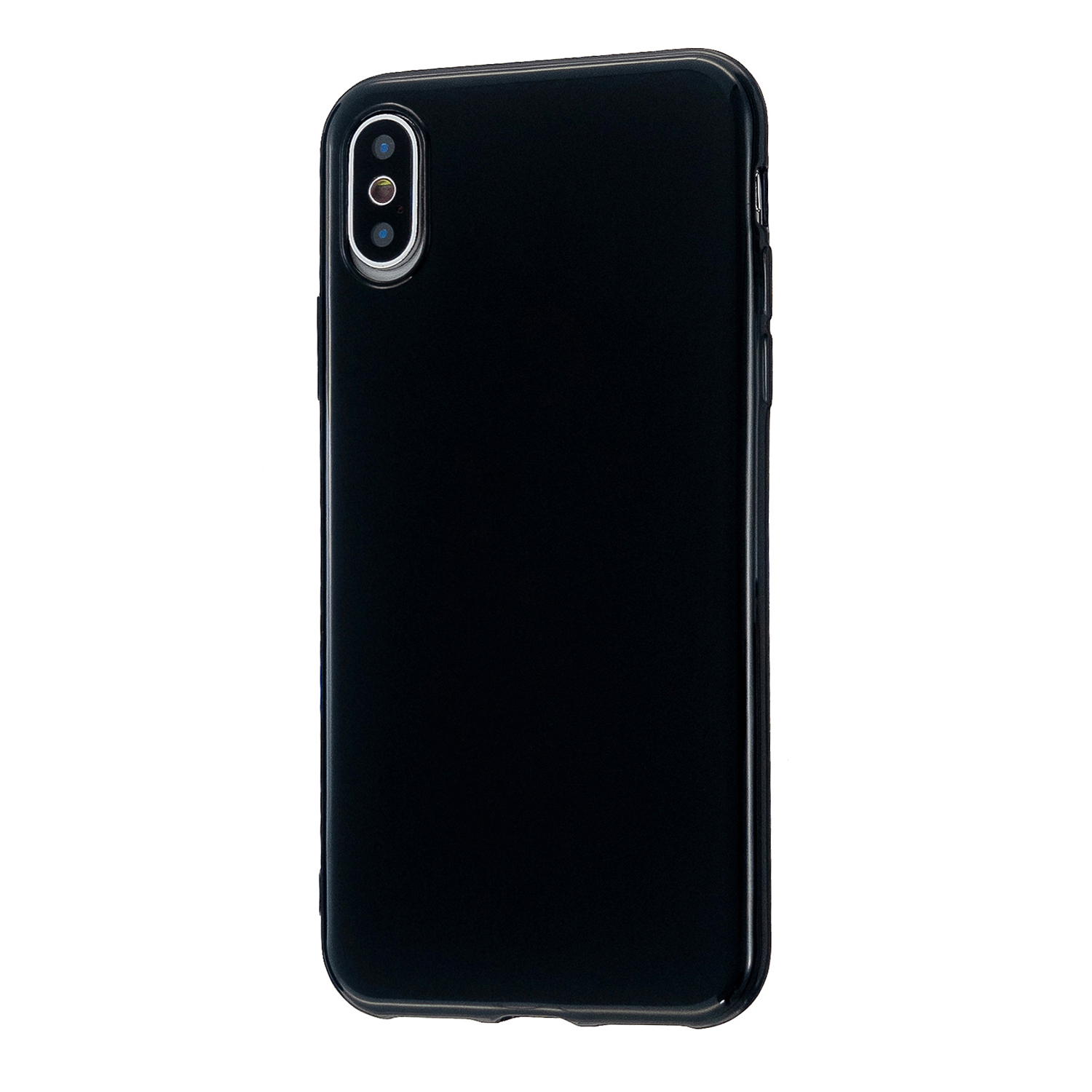 For iPhone X/XS/XS Max/XR  Cellphone Cover Slim Fit Bumper Protective Case Glossy TPU Mobile Phone Shell Bright black