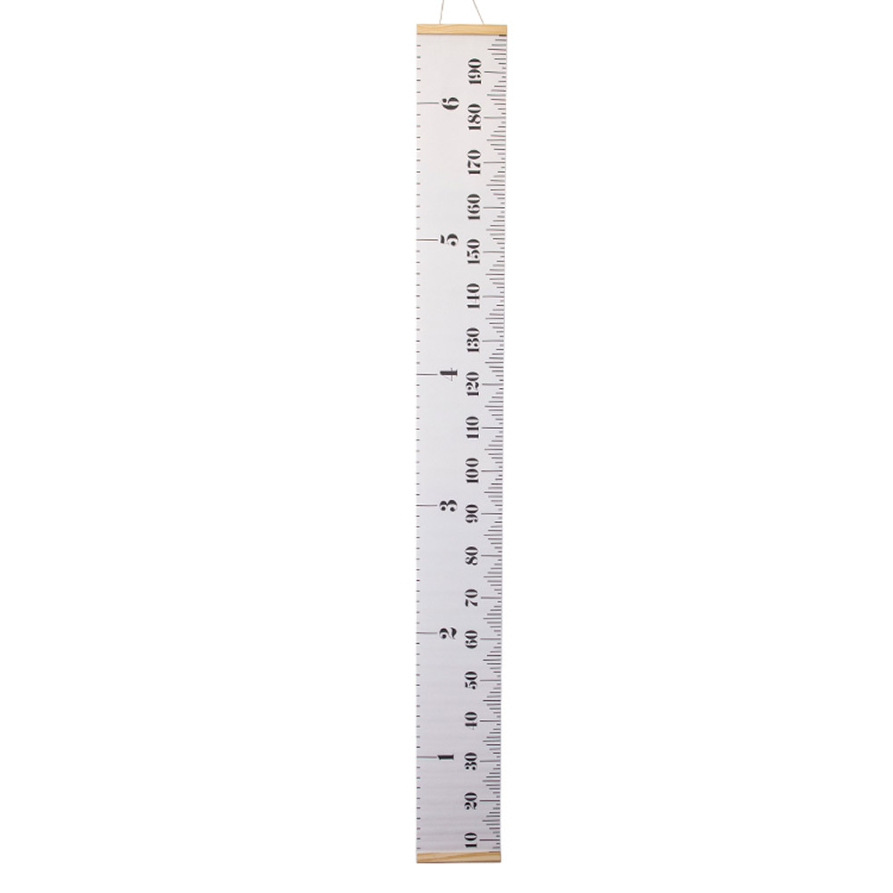 Baby Growth Chart Handing Ruler Wall Decor for Kids Removable Growth Height Chart white_20*200