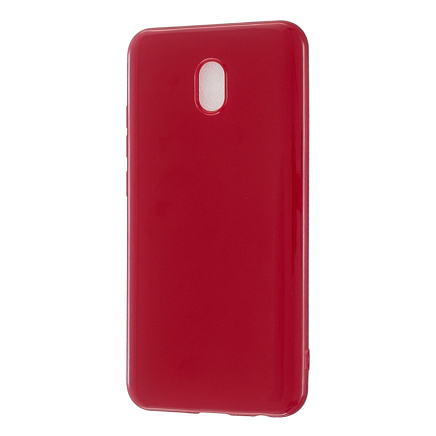 For Redmi 8 / Redmi 8A Cellphone Cover Glossy TPU Phone Case Defender Full Body Protection Smartphone Shell Rose red