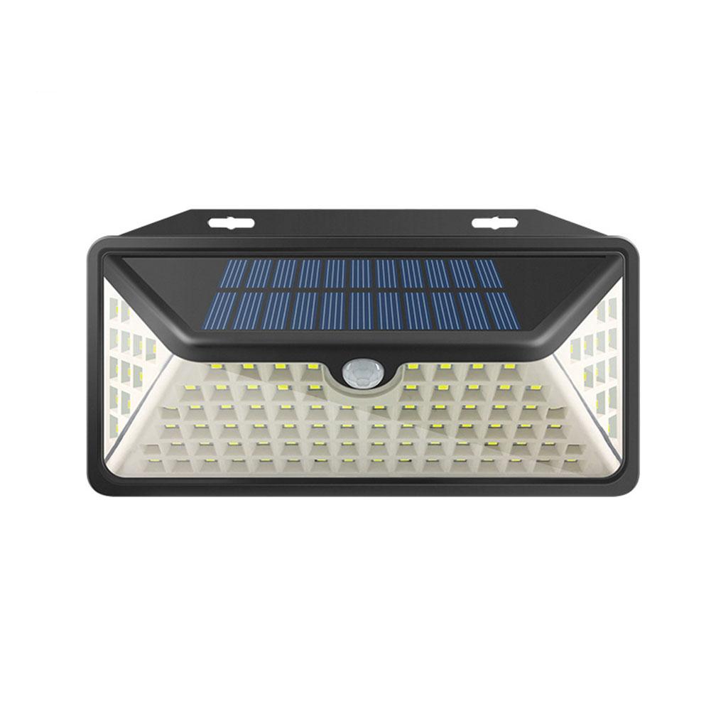 102LEDs Solar Power Motion Sensor Wall Light Outdoor Garden Security Lamp White light