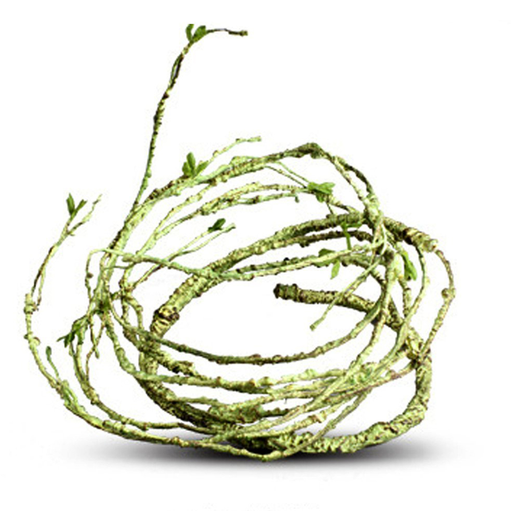 Flexible Bendable Artificial Tree Vine Jungle Vines Pet Habitat Decor for Lizard Frogs Snakes and More Reptiles  slender style