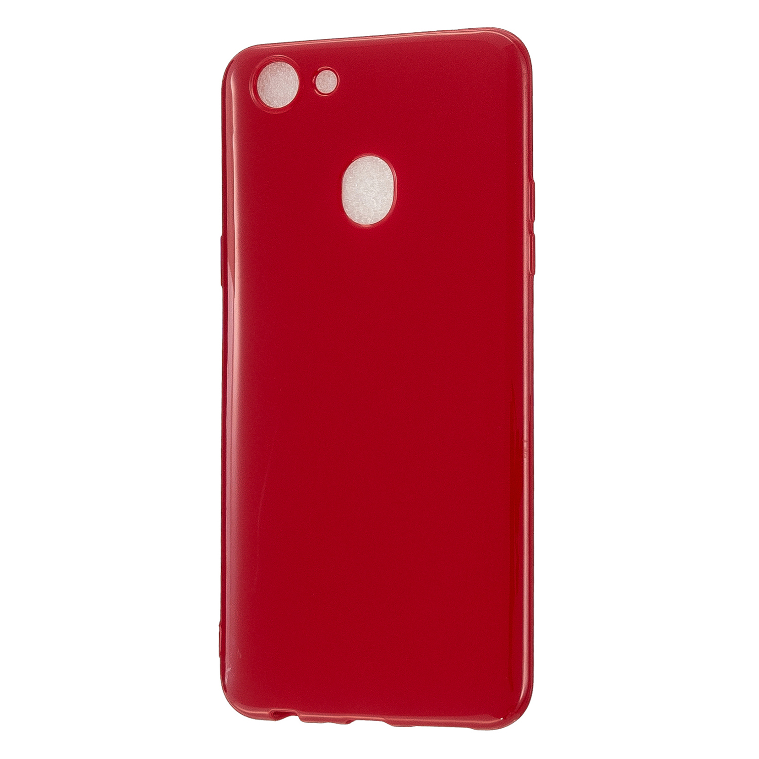 For OPPO F5/F7 Cellphone Cover Soft TPU Mobile Phone Case Screen Protector with Shock Absorption Technology Rose red