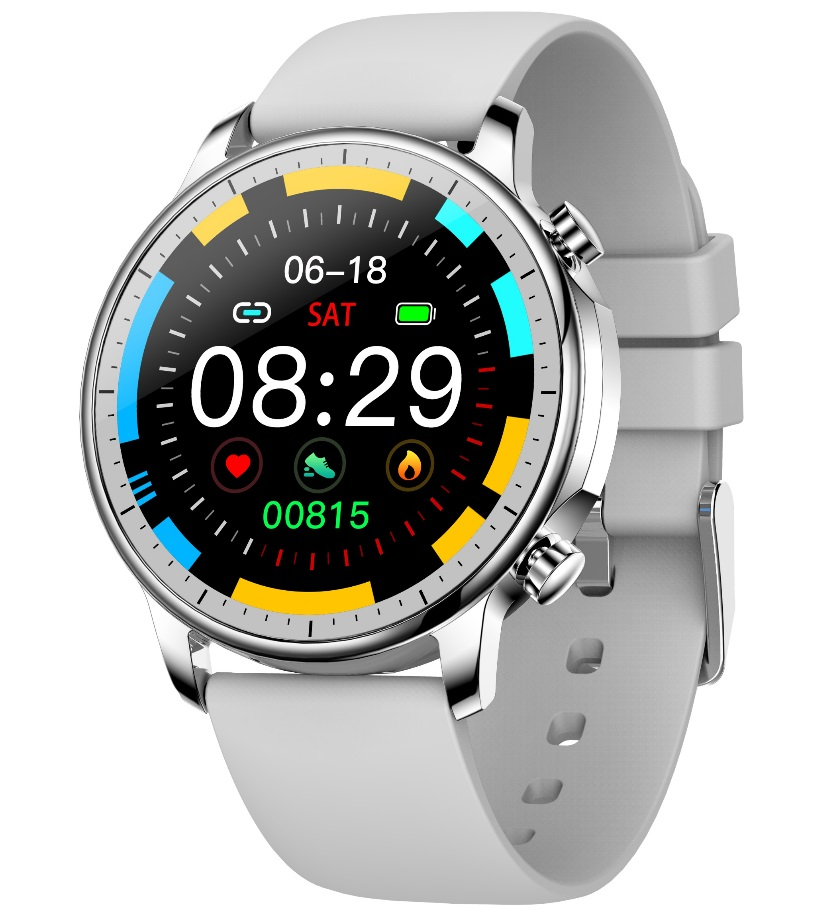 Smart Bracelet IP67 Waterproof Screen heart rate Monitor Pedometer Smart Wristband Sport smart watch gray