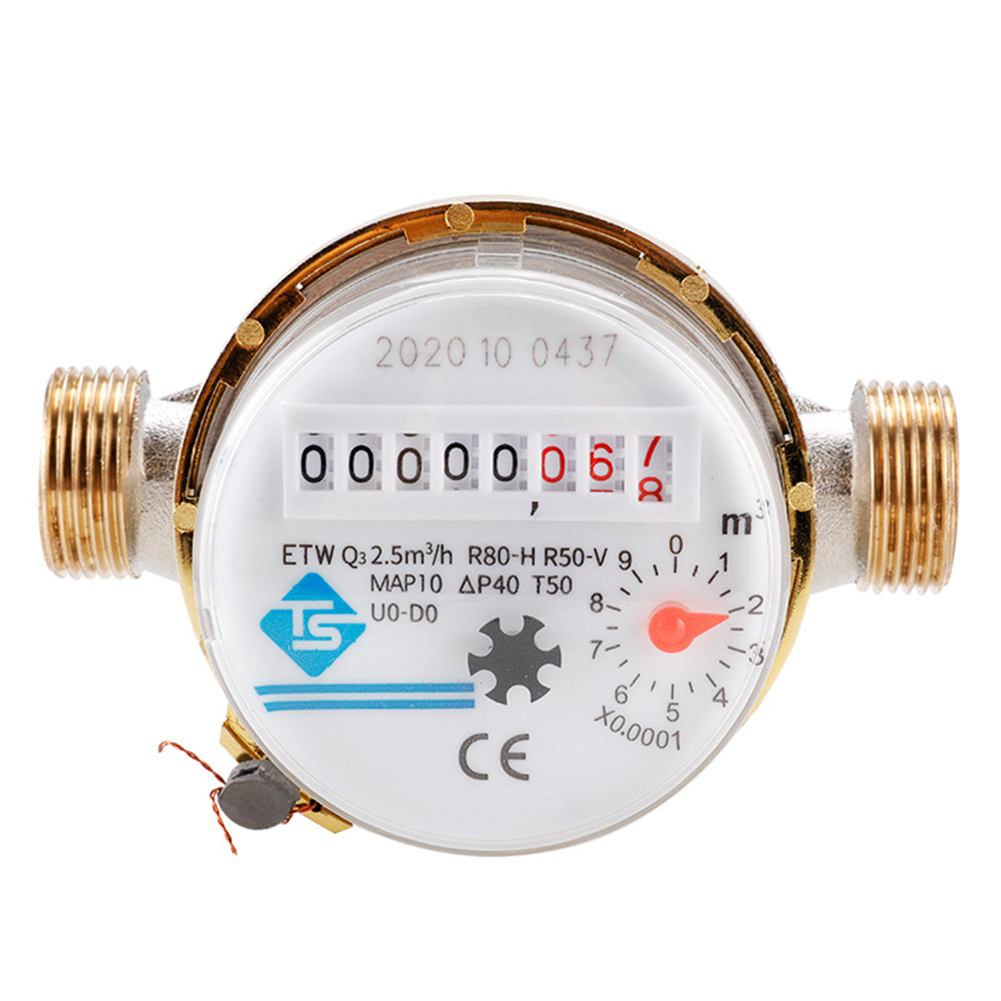 Smart Home Mechanical Rotary Wing Water Meter Type E Pointer Digital Cold Water Meter