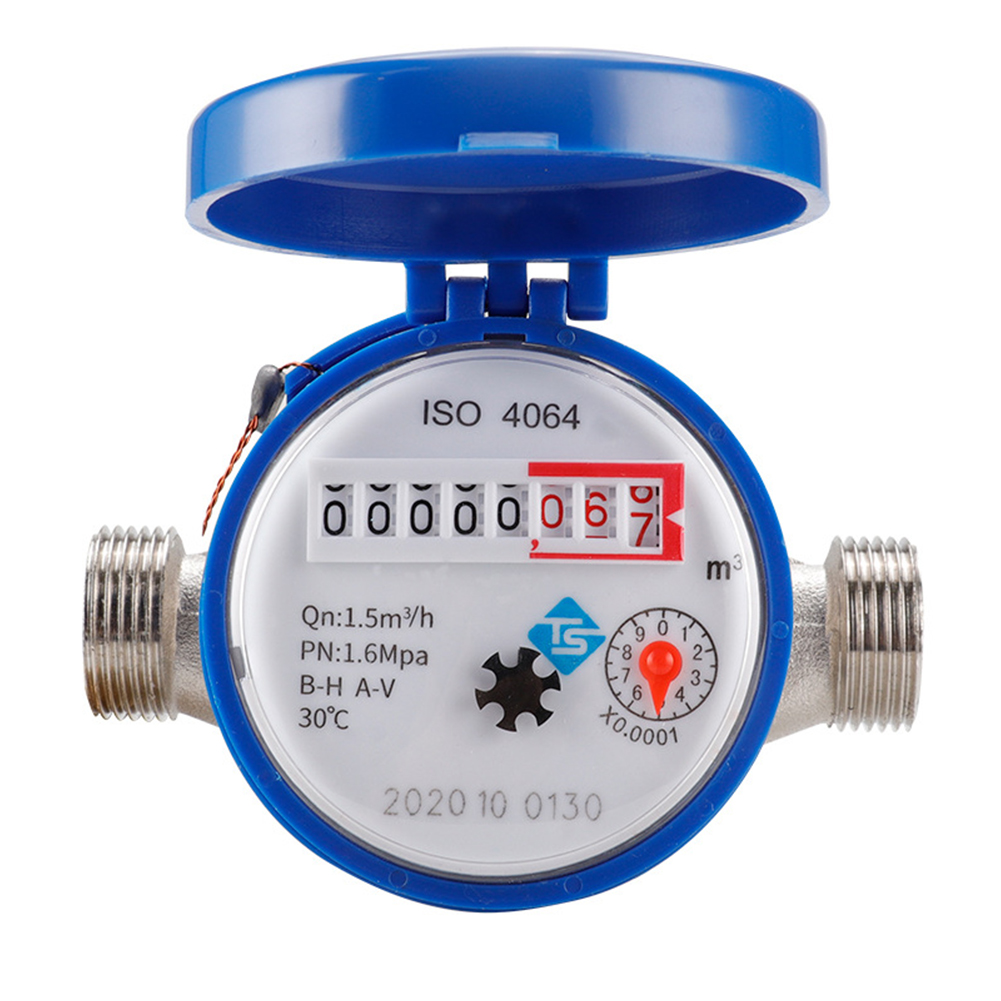 Smart Cold Water Meter Type E Pointer Digital Garden Home Mechanical Rotary Wing Water Meter