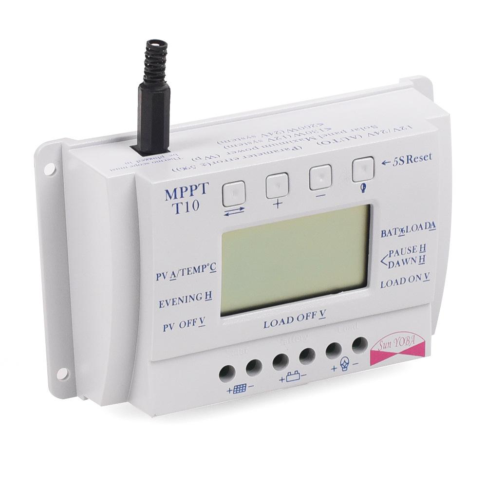 LCD 10/ 20/30 / 40A 12V / 24V MPPT Solar Panel Regulator Charge Controller 3 Timer