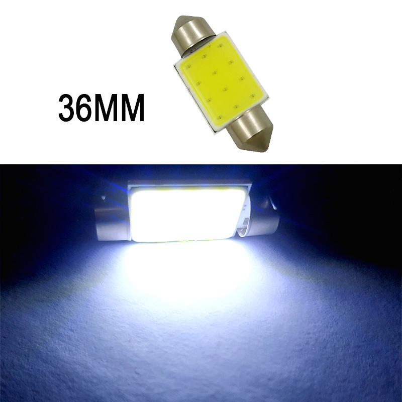 Car  Led  Reading  Light Double-pointed Cob Roof Light License Plate Light Carriage Light 31mm/36mm/39mm/41mm White light_36mm