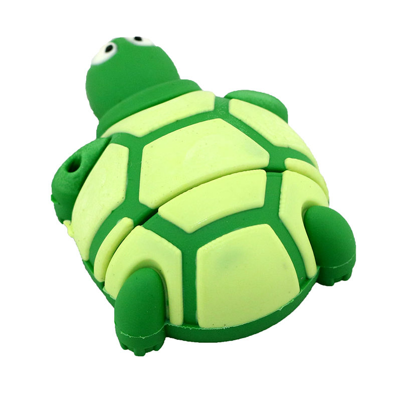 Cute Silicone Land Turtle U Disk Green 16G