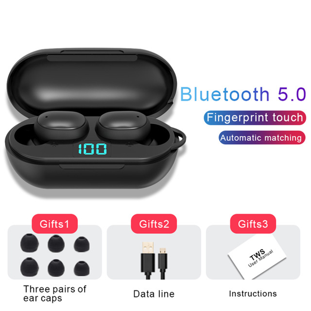 H6 Wireless Bluetooth Headset Stereo Handsfree Headset With Microphone Earphones black