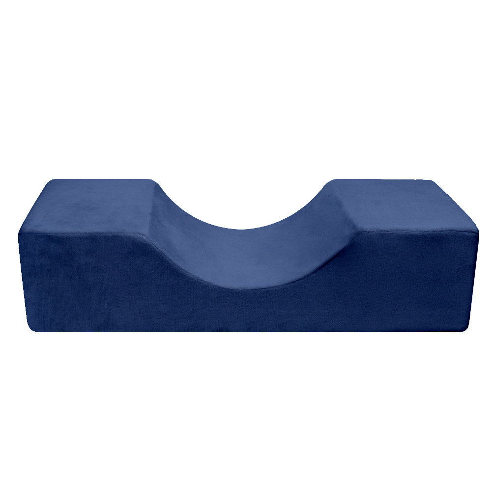 Professional Eyelash Extension Pillow Special Flannel Salon Use Memory Beauty.Pillow Stand Grafted For Eyelash Extension Navy blue