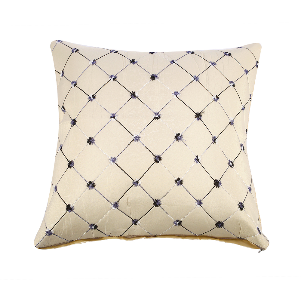 Multicolored Plaids Throw Pillow