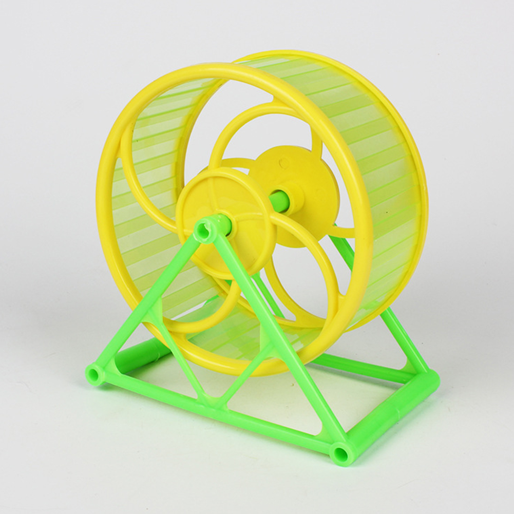 Running Wheel with Bracket Toy for Pet Hamster Sports Supplies green