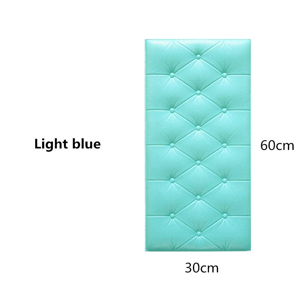 3D Foam Waterproof Self Adhesive Wallpaper for Living Room Bedroom Kids Room Nursery Home Decor light blue