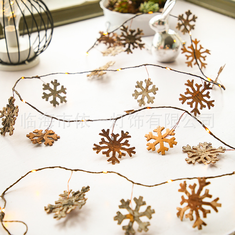LED String Light Pine Cone Copper Wire Fairy Lamp for Christmas Home Wedding Party Snowflower